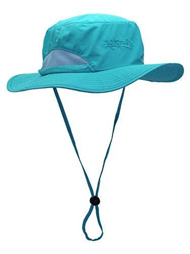 Panegy Outdoor UPF 50+ Mesh Fishing Big Brim Bucket Boonie Hat Camping Hiking Hat Sring