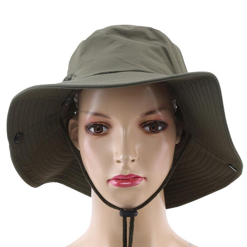 Sun Outdoor Protection Bucket Mesh Boonie Hat W