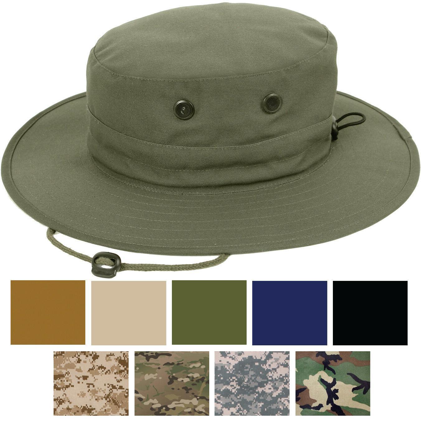 tactical boonie hat adjustable jungle bucket fishing