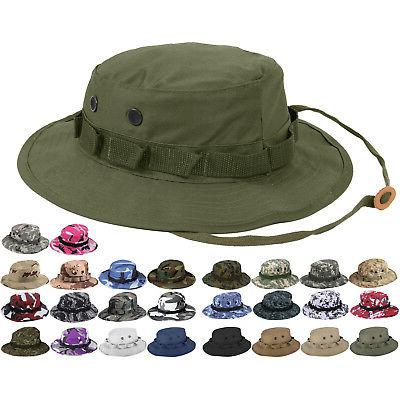 tactical boonie hat military camo bucket wide
