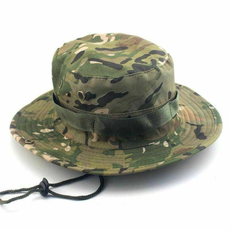 Tactical Camouflage Bucket American Army Military Cap