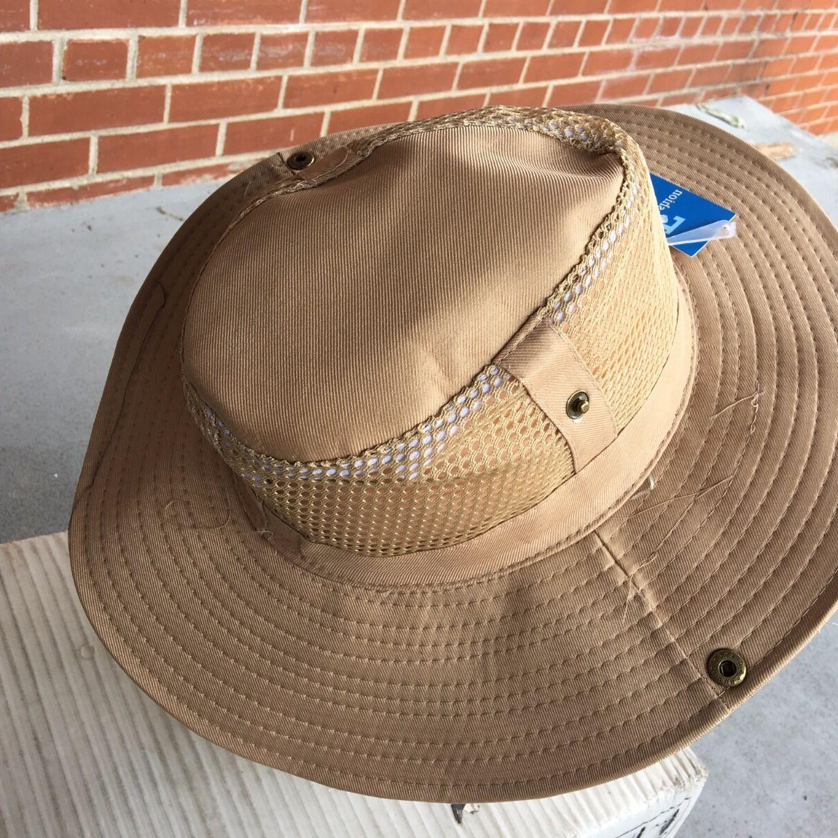 TAN Outback Bucket W/Mesh Boonie Hat