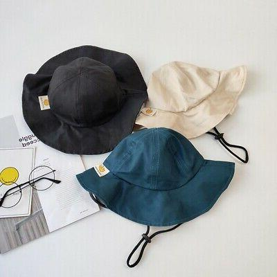 Toddler Solid Caps Reversible Sun NEW
