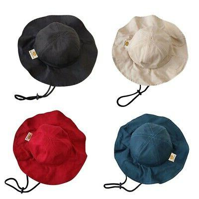 Toddler Solid Bucket Caps Reversible Sun Headwear NEW