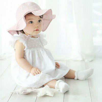 Toddler Infant Baby Kid Girls Summer Sun Hat Outdoor Bucket