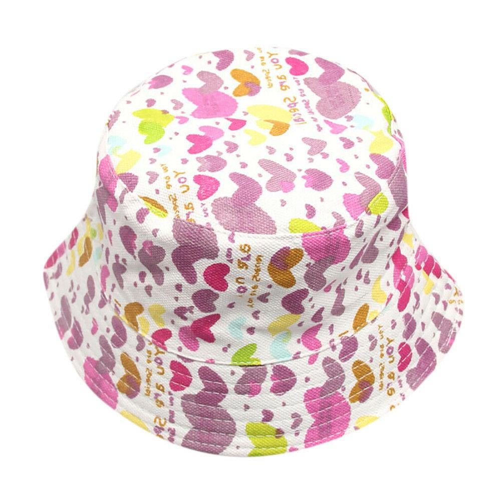 Toddler Kids Girls Floral Pattern Hats Sun Hats NEW