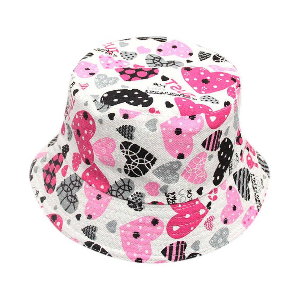 Toddler Baby Girls Floral Pattern Bucket Hats Sun Helmet Hats