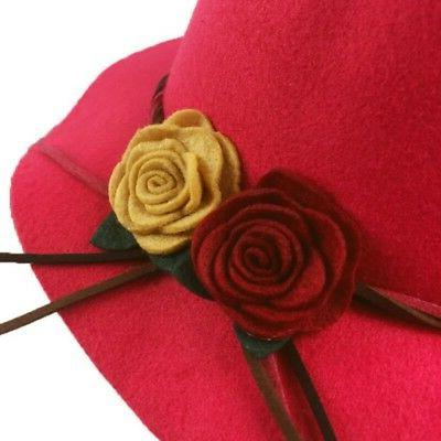 Toddler Wide Brim Hats Formal Caps with Flowers