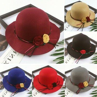 toddler boys girls autumn wide brim hats