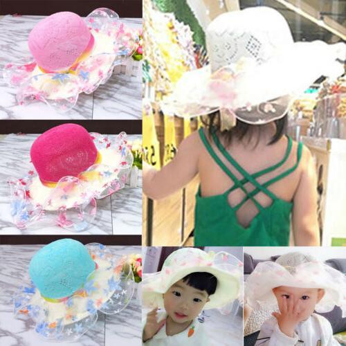 Toddler Kid Baby Girl Outdoor Sun Hat Brim Summer Bucket Hats Headwear