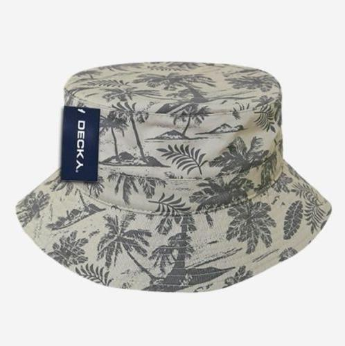 tropical print polo fisherman s bucket hat