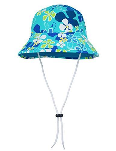 tuga girls bucket hat upf 50 ocean