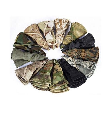 Unisex Bucket Sun Cap Round Military Camouflage Game