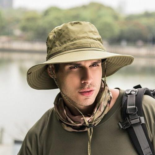 Bucket Hat Boonie Hunting Fishing Outdoor Cap Wide Unisex Su