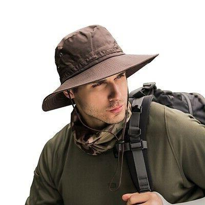 Unisex Bucket Hat Boonie Hunting Fishing Outdoor Wide Brim S