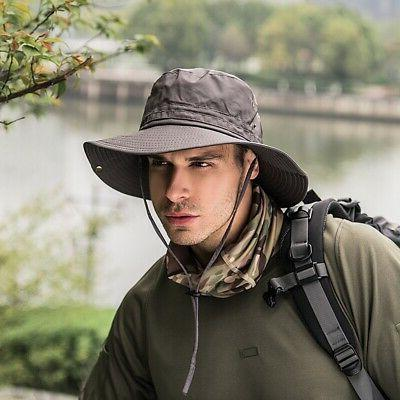 Men Women Bucket Hat Boonie Hunting Fishing Outdoor Wide Bri