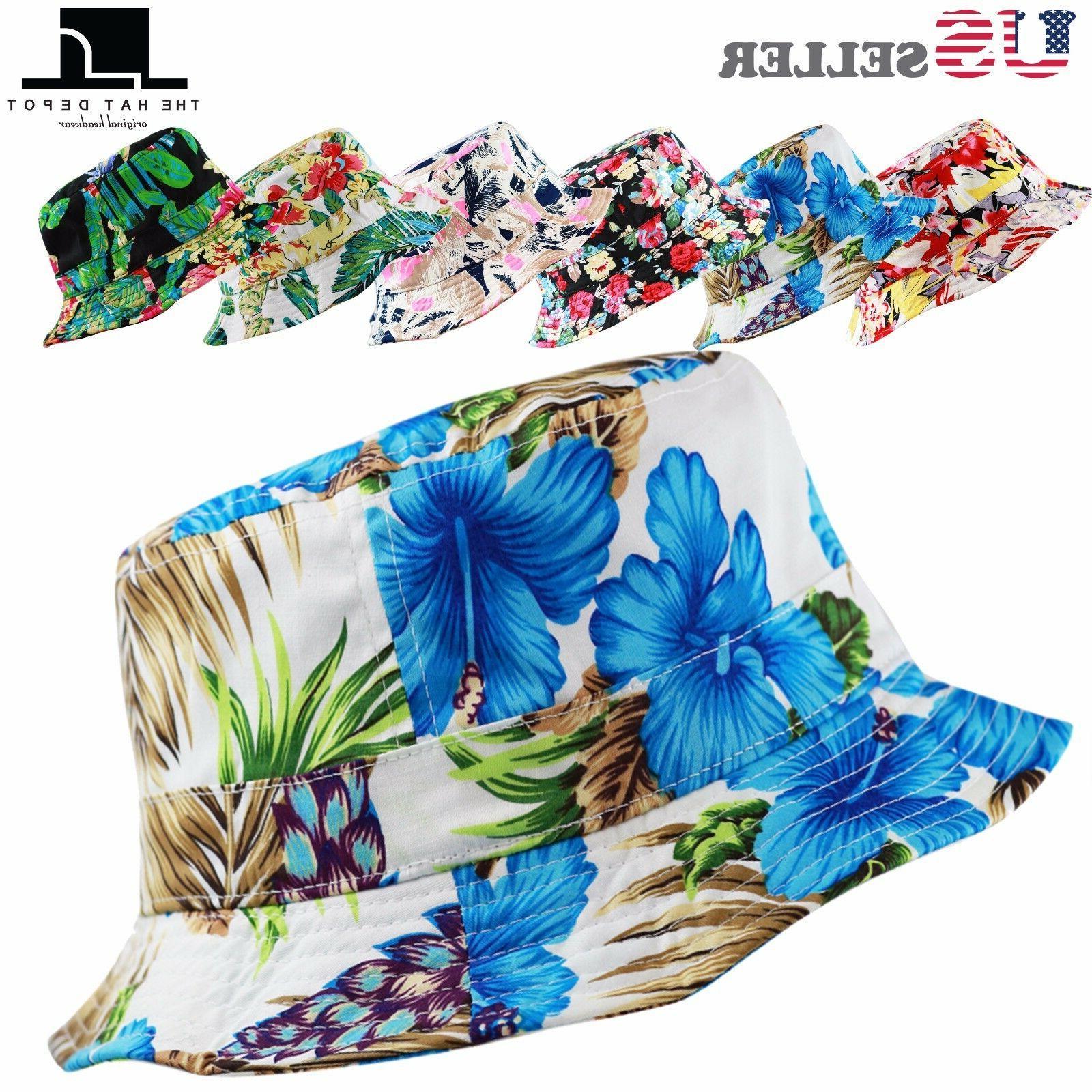 unisex floral bucket hat