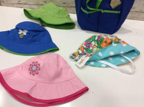 Unisex Infant/TODDLER Bucket HAT LOT of 4 Hats Garden bag New
