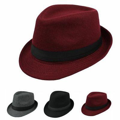 unisex jazz cap vintage woolen bucket trilby