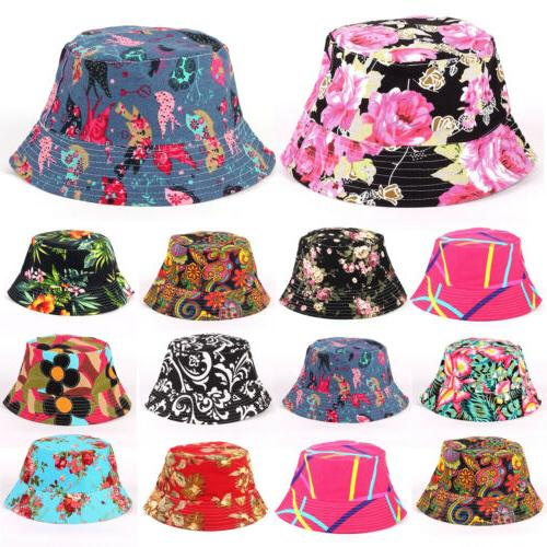 womens floral bucket hat hiking camping boonie