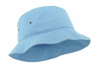 unisex washed cotton bucket hat summer outdoor