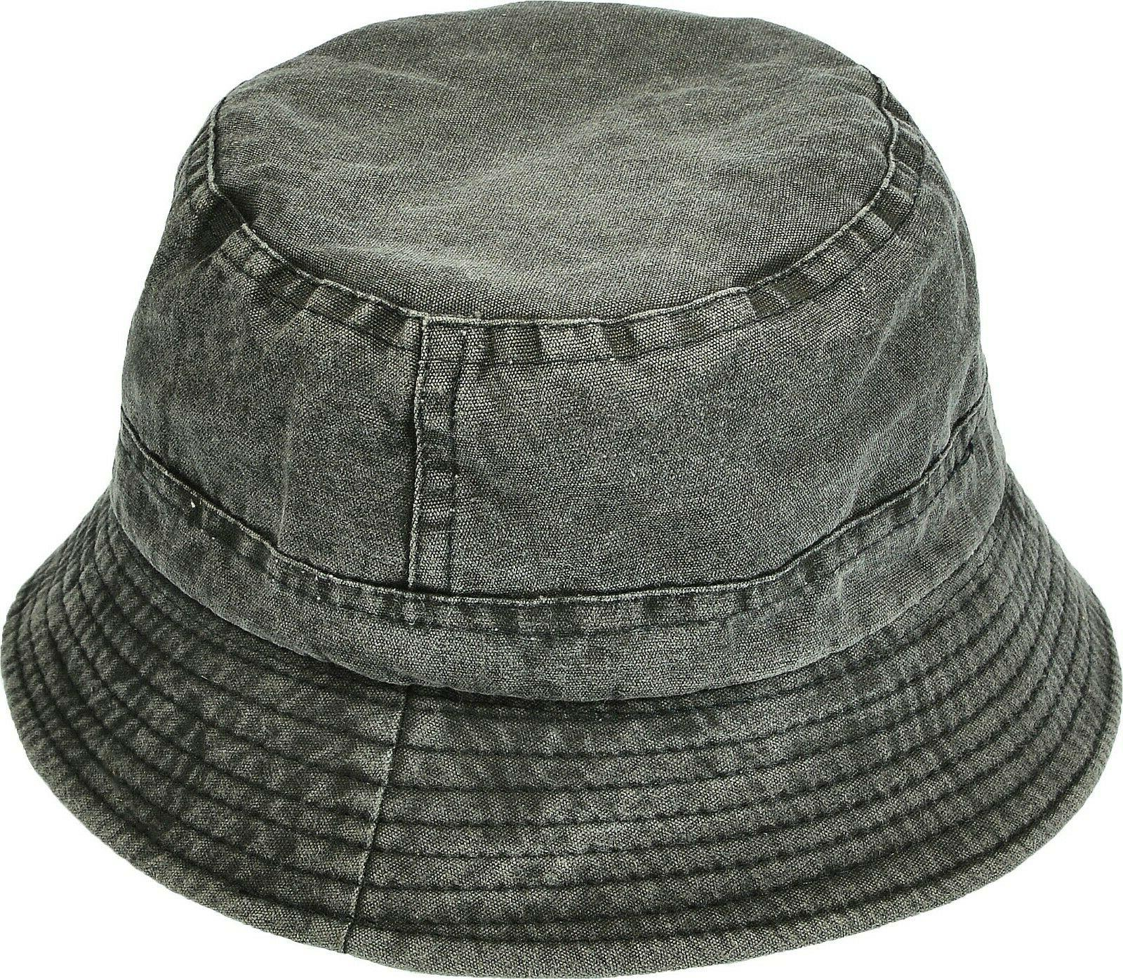 unisex washed cotton denim bucket hat packable
