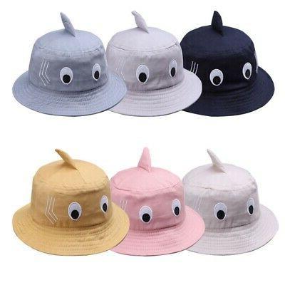 Baby Kids Boy Girl Cartoon Print Bucket Hats Caps Reversible