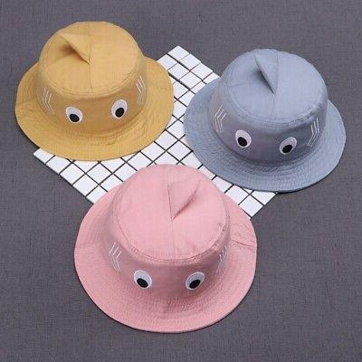 0-2T Baby Kids Boy Girl Cartoon Bucket Hats Caps Reversible