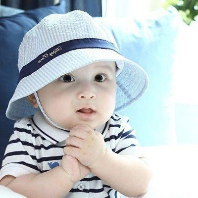 US Baby Kids Sun Infant Girl Bucket Visor Cap Headwear