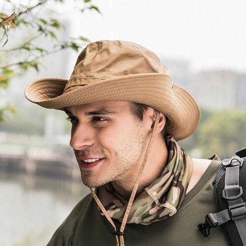 US Boonie Bucket Hat Fisherman Wide Brim Cap Cap Sun Hats