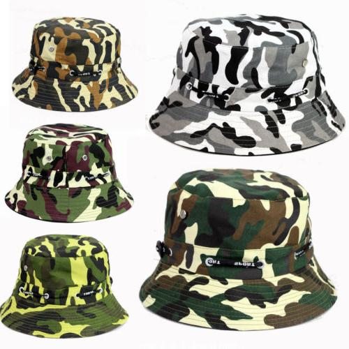 US Hat Hunting Fishing Floral Solid Cap Sun Hats