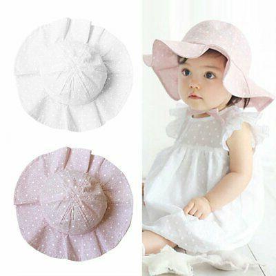 Toddler Girls Sun Outdoor Bucket Cap Hat