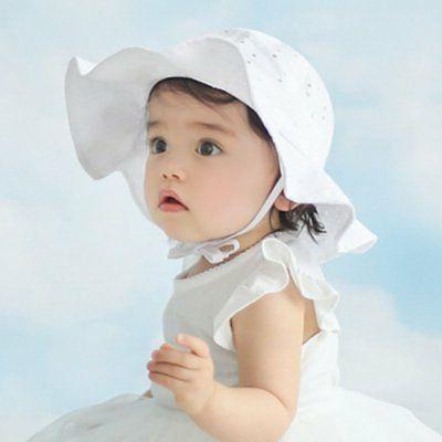 US Toddler Girls Sun Hat Brim Hats Beach Headwear