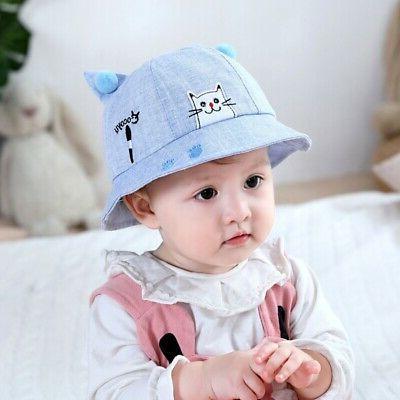 USA Baby Boy Girls Summer Bucket Hat Reversible Sun Headwear Hats