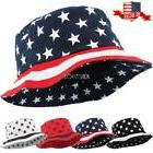 USA Flag Fashion Bucket Hat Unisex 100% Cotton