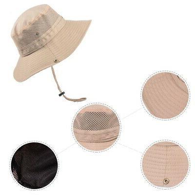 USA Men's Sun Bucket Hiking Cap Wide Brim Hat