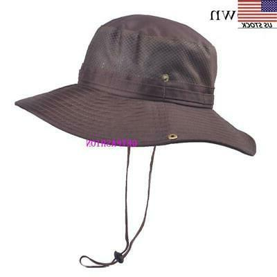 USA summer Hat Bucket Fishing Cap Wide Brim UV Protection