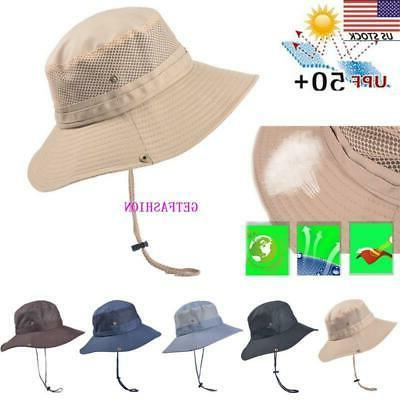 USA summer Hat Bucket Cap Brim Protection