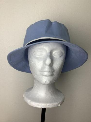 vintage light blue bucket hat for fishing