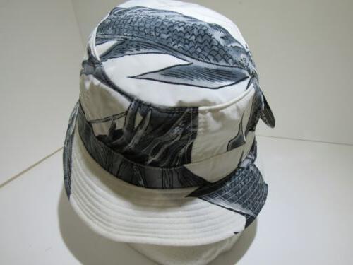Vintage Mega USA New White Bucket Cap Korean Made