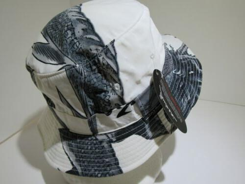 Vintage Mega USA New York White Bucket Cap S/M Korean