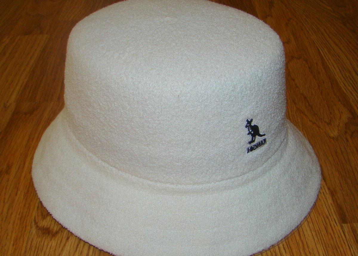 Mens Classic Kangol Bermuda Bucket Hat Color White