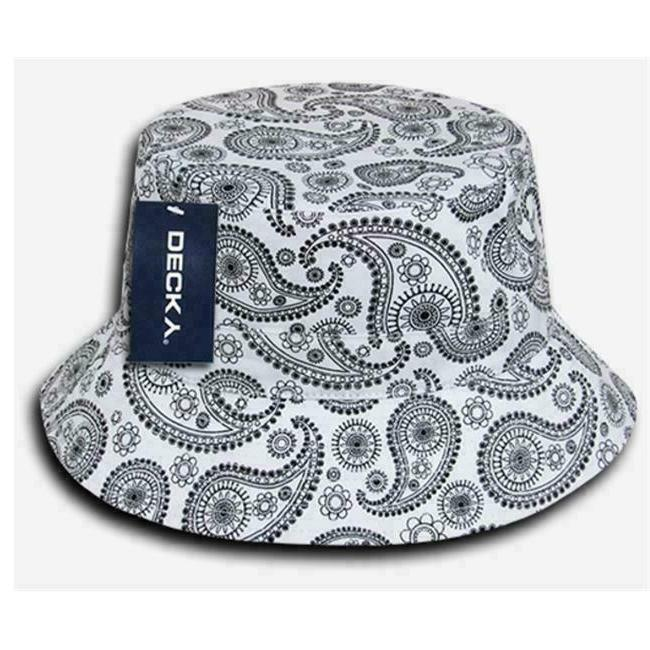 white paisley bucket hat size l xl