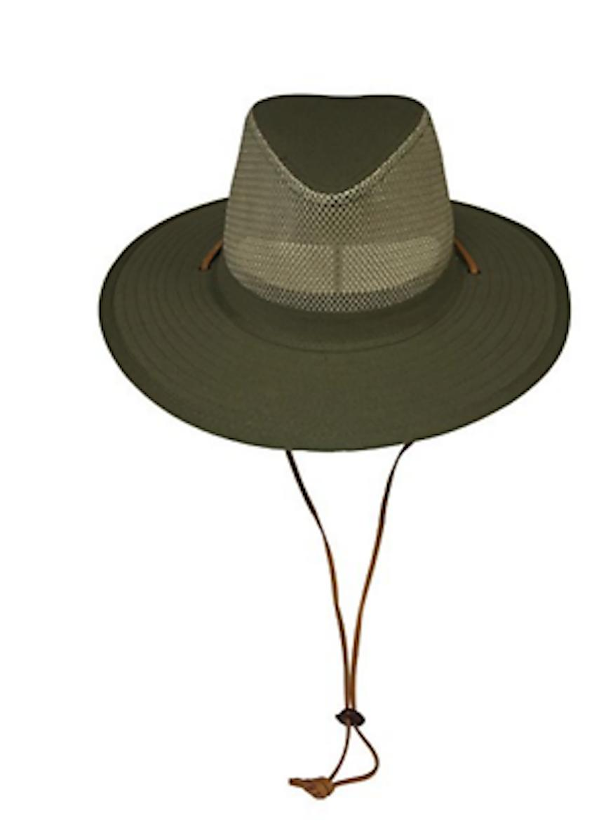 Wide Brim UPF-50 Sun Mesh Crown Breathable Crushable