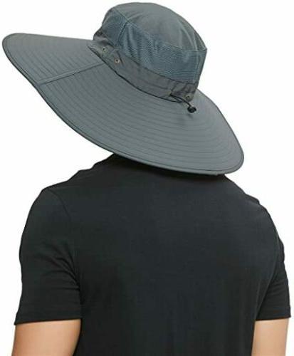 Wide Fisherman UV Boonie Cap Hiking Waterproof