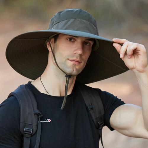 Wide Brim Fisherman Hat UV Boonie Cap Waterproof