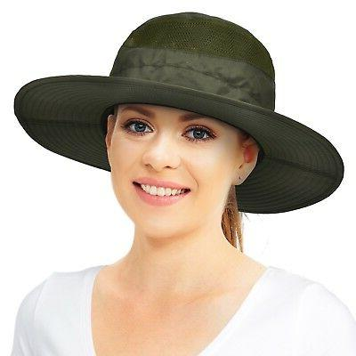 Wide Brim Sun Protection Hat Summer Outdoor Bucket Cap for H