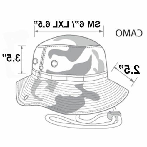 Wide Brim Hat Camo Bucket Hiking