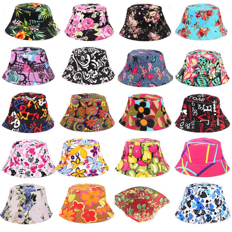 Women Floral Hats Fishing Foldable Outdoor Summer