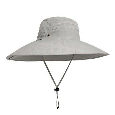 Women Men Wide Brim Bucket Outdoor Hunting Fishing Sun Hat Cool Hot